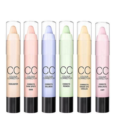 what color concealer for redness menow cc corrector concealer stick set highlighter