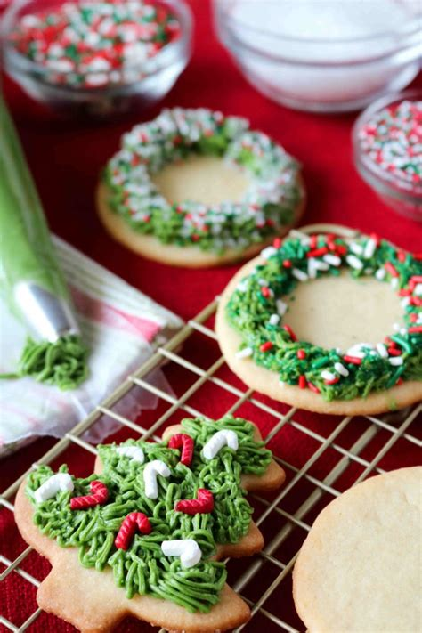 christmas sugar cookies with buttercream icing recipe