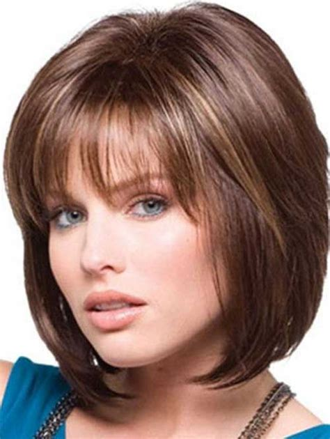 Medium Hairstyles With Bangs Layered by Medium Layered Bob Hairstyle With Bangs Rachael Edwards