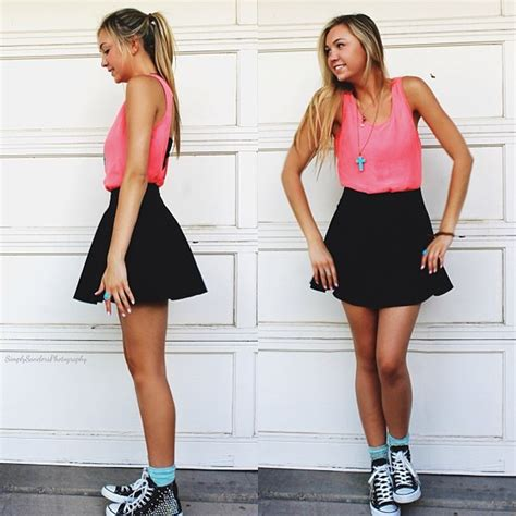 skirt clothes hannahswildparty top socks high tops