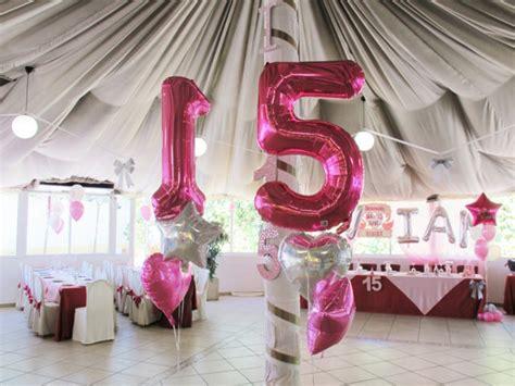 centros de mesa para 15 aos con globos decoracion con globos 15 anos vivian 04 globos gigantes