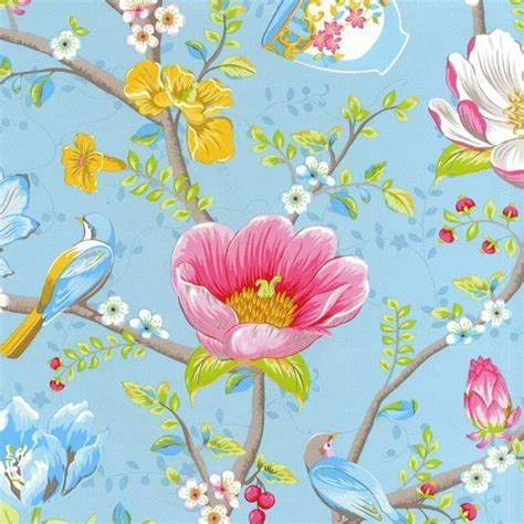 Home Interior Design Catalog by Pip Studio Iii Wallpaper Chinese Garden Light Blue 341002