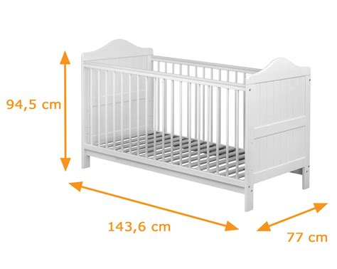 2 In 1 Crib Mattress Olympia Cot Bed Convertible To Junior Bed In White Funique Co Uk