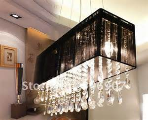Dining Room Hanging Light Fixtures by Free Shipping Rectangle Crystal Pendant Lamp Hanging Light