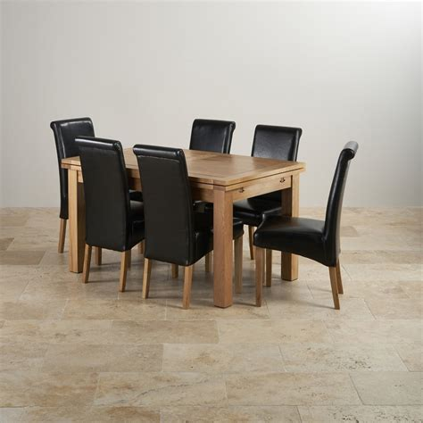 Dorset Extending Dining Set In Oak Table 6 Scroll Back Oak Extending Dining Table And 6 Chairs