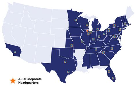 aldi locations map aldi us divisional map