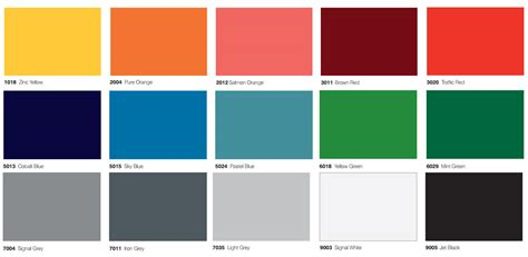 color glass color charts glass laminate