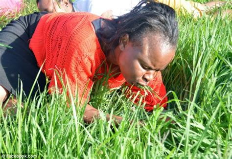only eats from south preacher makes congregation eat grass to be closer to god daily mail