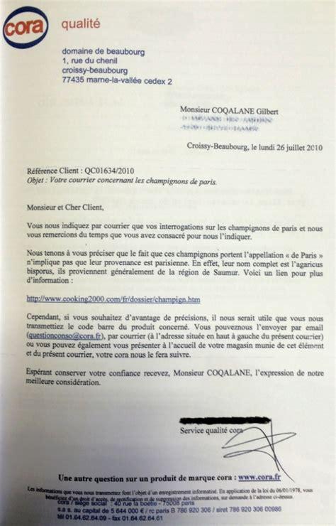 Type De Lettre Entreprise Gilbert Coqalane Taquine Les Sav