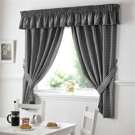 gardinen schwarz weiß vichy karo stoffe f 252 r ein gem 252 tliches ambiente mit vintage