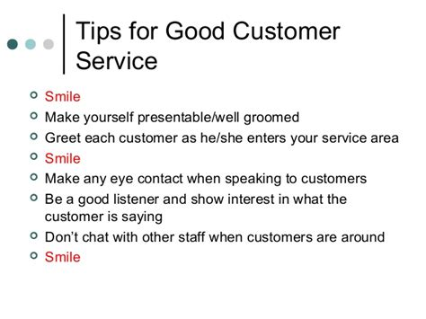 service tips about customer service