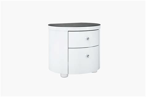 high nightstand victoria white high gloss nightstand