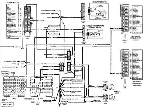 1977 gmc truck instrument cluster wiring diagram wiring