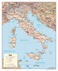 Detailed Map Of Italy by Geography Blog Detailed Map Of Italy