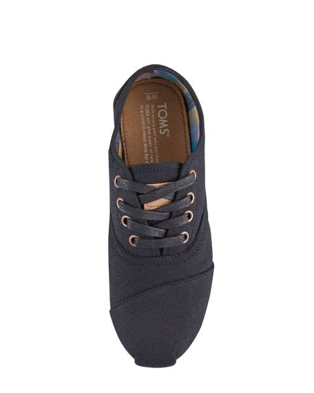 Basic Oxford 1 Toms Basic Cordones Oxford Black