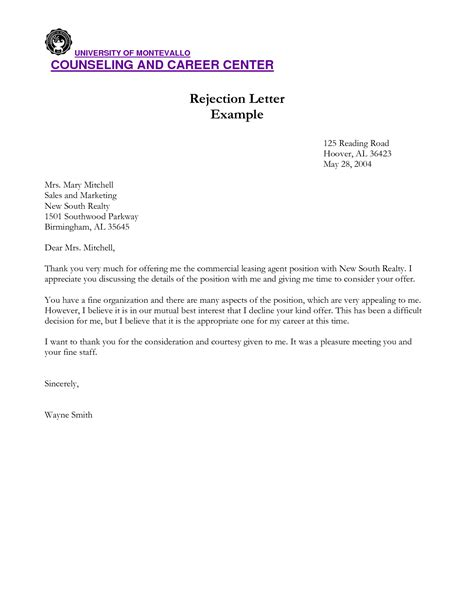 Business Letter Denying Request best photos of refusal letter template business