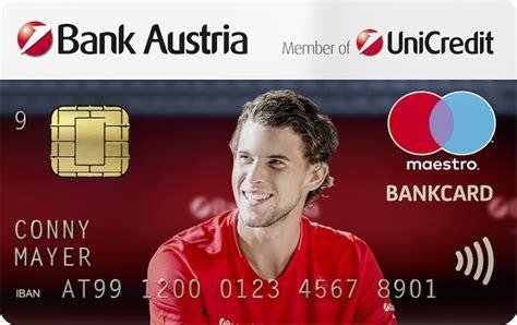 kreditkarte bank austria kosten bankcard dominicthiem gratis konto vergleich f 252 r 214 sterreich