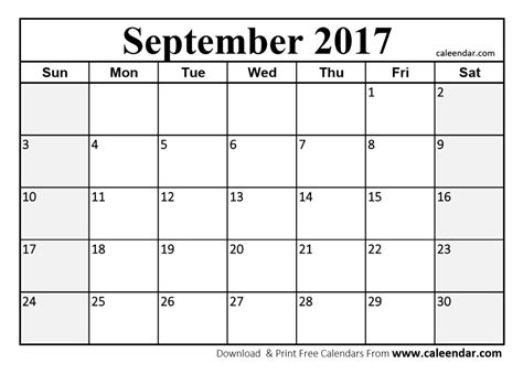 september calendar template printable september 2017 calendar vertola