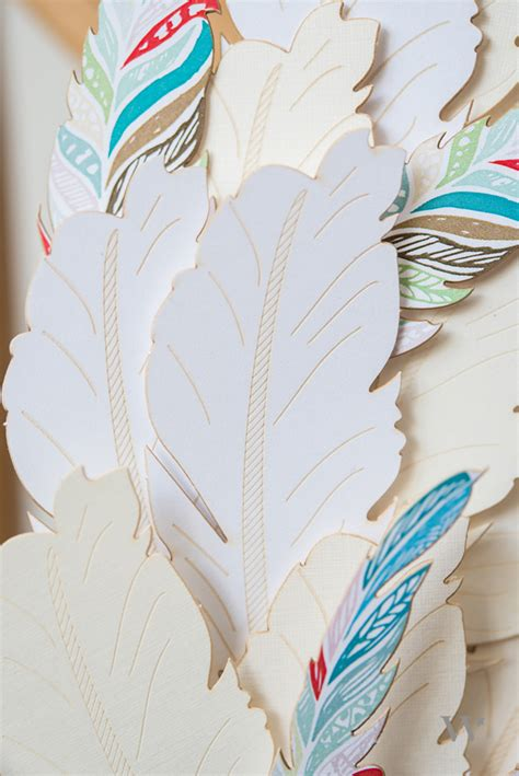 Paper Feathers - diy wedding wednesday paper feather chair back the