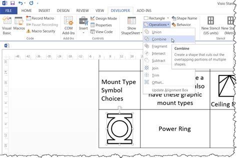 visio legend shape editing symbol legend shapes d tools