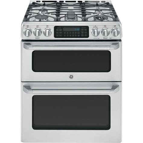 Oven Gas Convection ge cafe 6 7 cu ft oven gas range with self cleaning convection oven in stainless steel