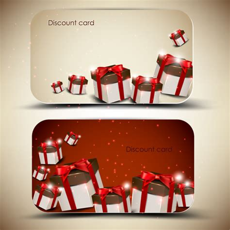 Gift Name Card Design - creative of gift discount cards design vector 01 vector card free download