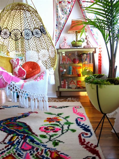 colorful and whimsical living room decor