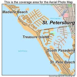 island florida map aerial photography map of treasure island fl florida
