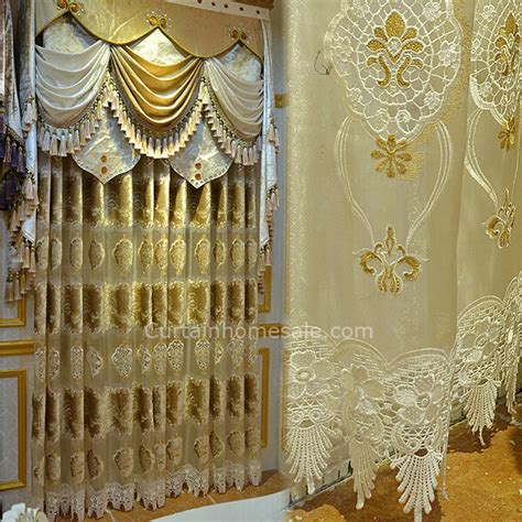 victorian sheer curtains romantic victorian curtain in light gold velvet and sheer
