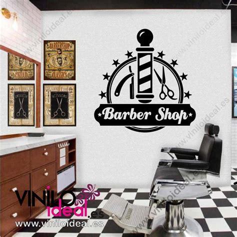 vinilo decorativo barber shop adhesivo berberias vinilos decorativos en  pinterest