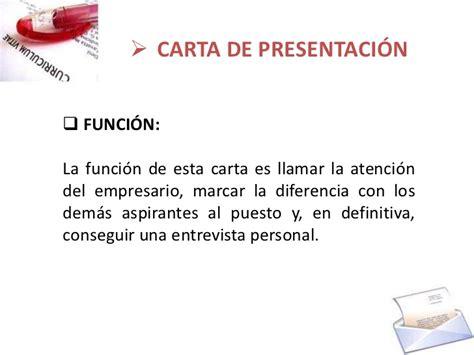 carta formal funcion cv y carta de presentaci 243 n