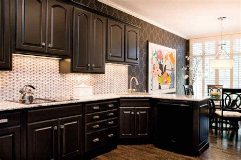 Black Kitchen Cabinet Paint Painting Kitchen Cabinets Black Design My Kitchen Interior Mykitcheninterior