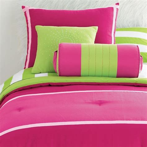 12p full comforter pink lime green sheets val drapes ebay