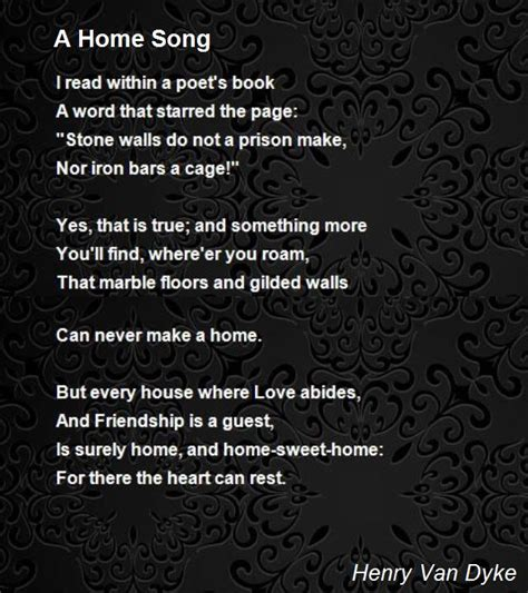 a home song poem by henry poem