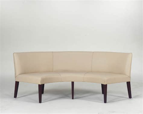 Curved Banquette by Hamilton Furniture White Catalog
