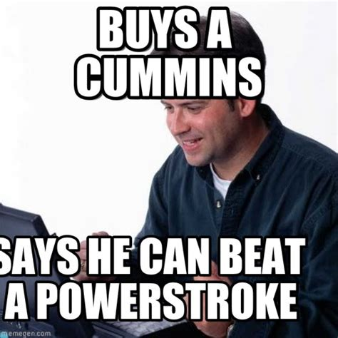 buys a cummins net noob meme on memegen
