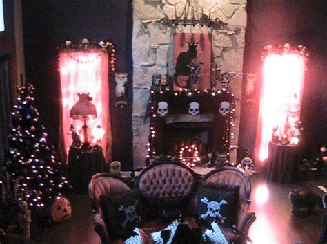 gothic living room halloween decorated victorian goth living room love