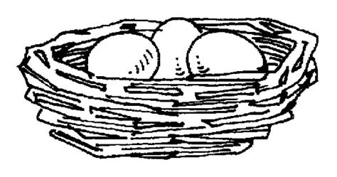 free hen on nest coloring pages