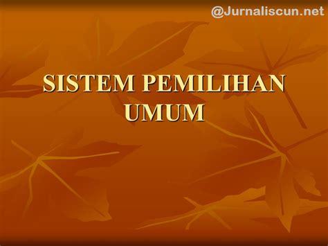 Pemilihan Umum Sistem Pemilihan Umum Web Portal Pendidikan