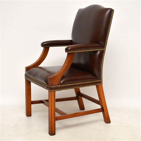 antique leather armchair antique leather mahogany gainsborough armchair