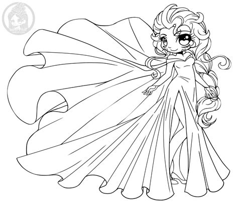 coloring pages of chibi disney princesses disney frozen elsa princesse chibi 224 colorier par yampuff