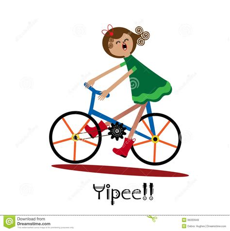rider fan bike bike ride stock vector illustration of delight
