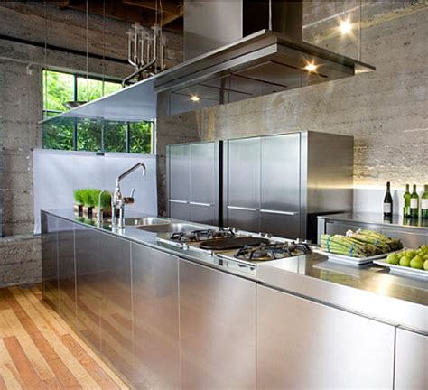 stainless steel kitchen design the shiny kitchen metal decor for your culinary space