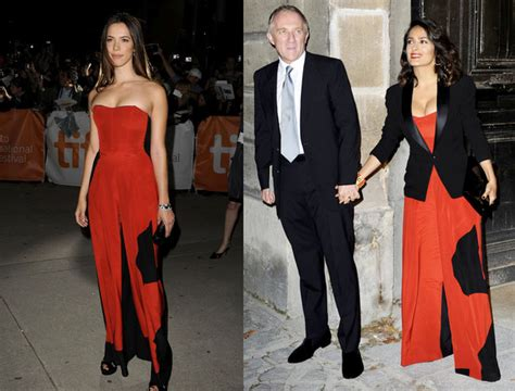 Who Wore The Ysl Jumpsuit Better who wore ysl better or salma hayek who