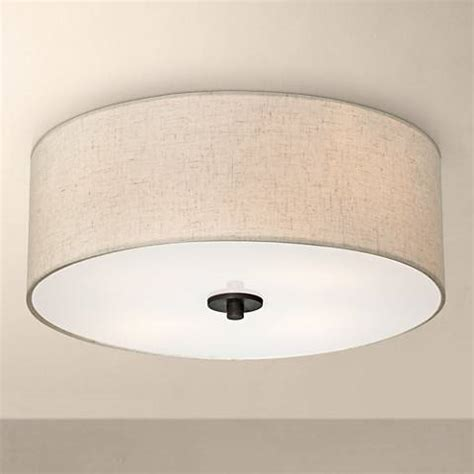 ceiling lights white bronze with white shade 18 quot wide ceiling light fixture