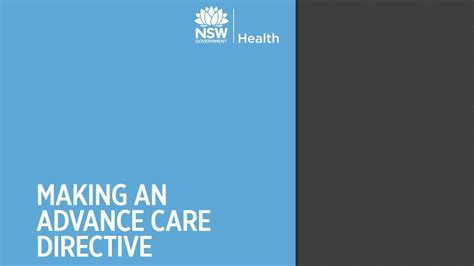 advance care directive template an advance care directive ministry of health