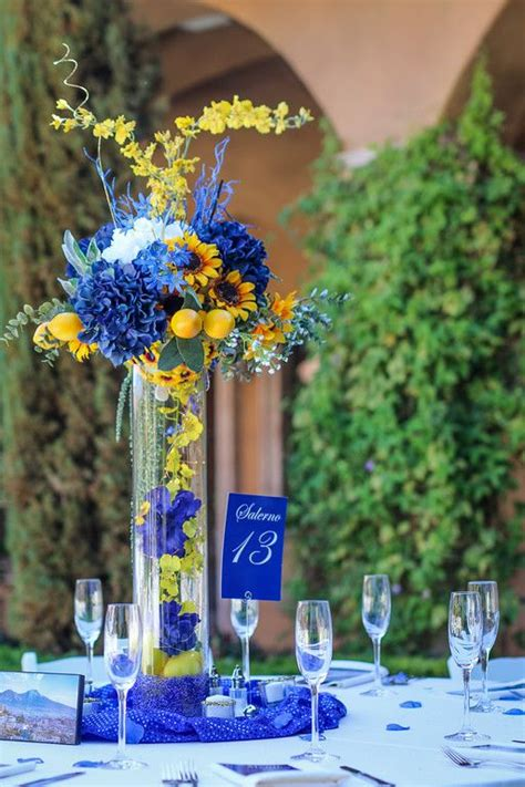 blue and yellow centerpieces best 25 blue centerpieces ideas on blue