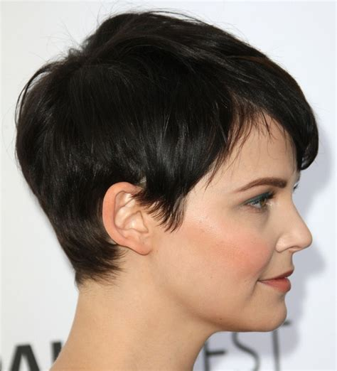 side and front view short pixie haircuts side side view of pixie cut ginnifer goodwin short