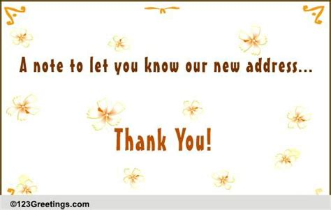 Thank You Letter For Cus Our New Address Free Customers Ecards Greeting Cards 123 Greetings