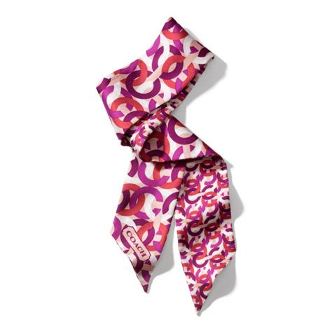 couch scarf snap n zip fashion accessories coach chain link print